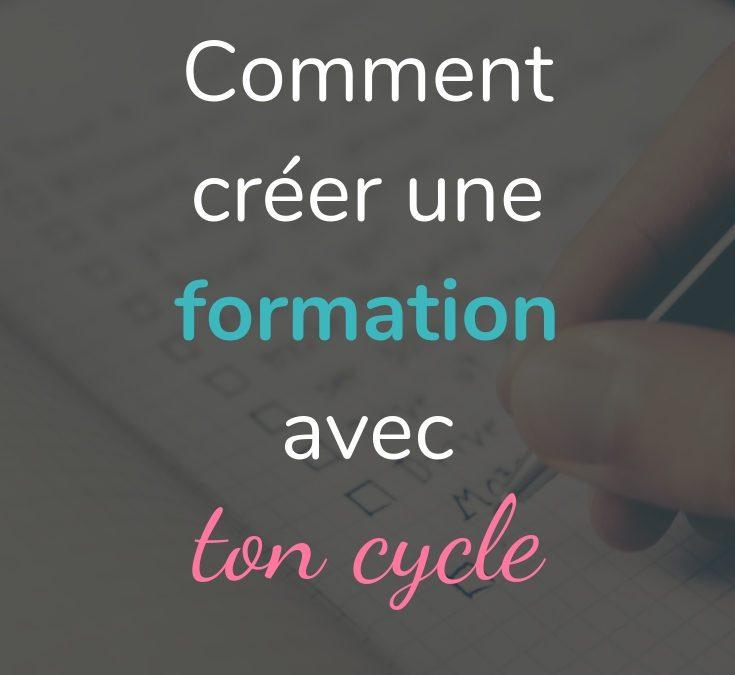 Comment créer un programme en ligne en suivant ton cycle