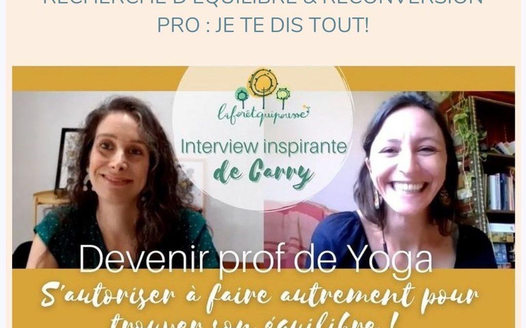 professeur de yoga reconversion burnout